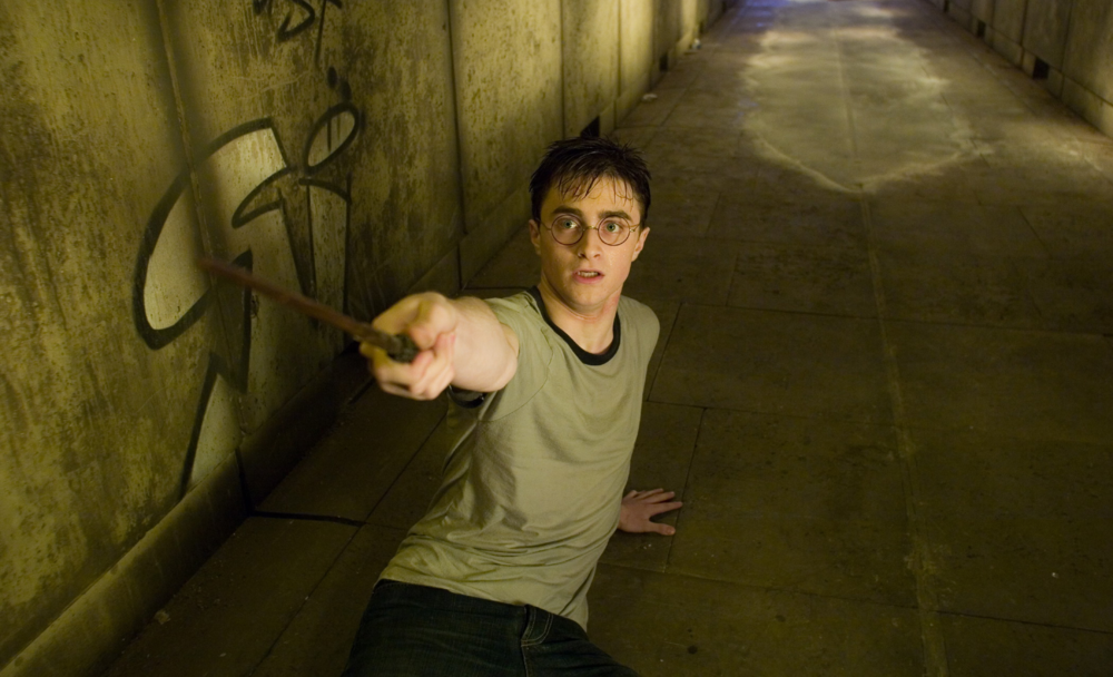 High Angle Shot of Harry Potter
