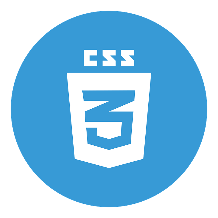 The logo for CSS3