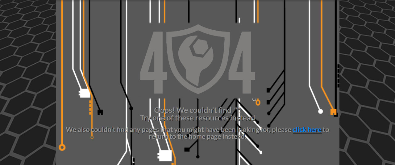 The Armor Techs 404 Page