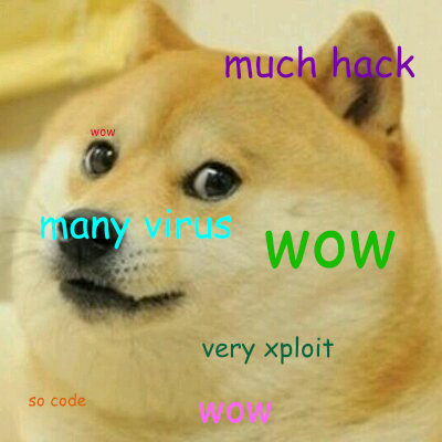 A Shiba Inu dog with comically mispelled words in comic sans font in the style of the Doge Meme. Very screenreader. Much text for image. Wow.