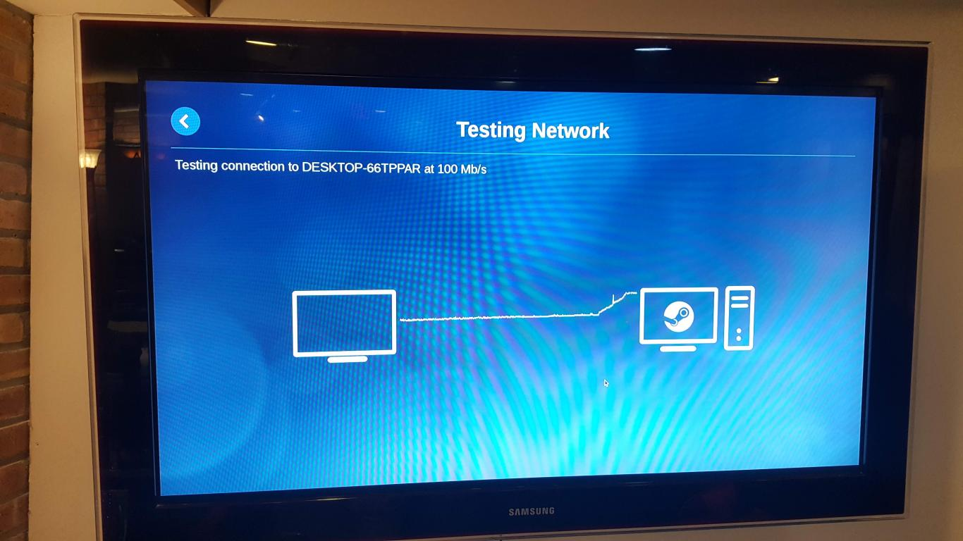 SteamLink connected to HDTV