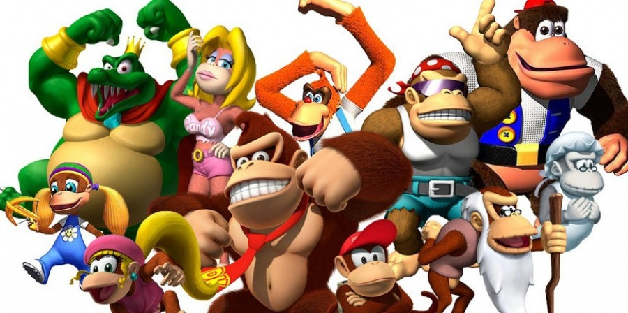 The cast and crew of several of the Donkey Kong Games - even featuring King K. Rool.