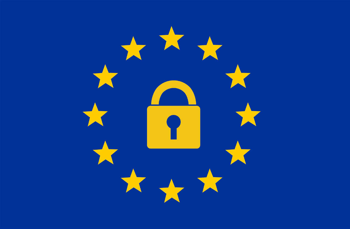 The Iconic Ring of Golden Stars signifies GDPR.