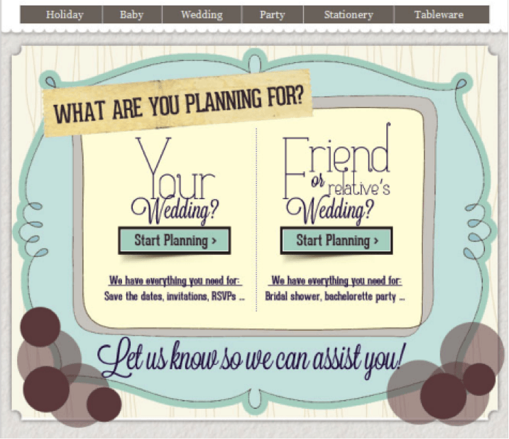 example wedding email